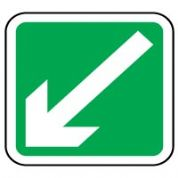 Safe Safety Sign - Arrow 45 Left Down 031